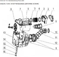 Модуль 114638: Фильтр воздушный (двигатель SQ188MR)