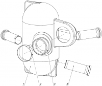 Глушитель шума впуска С40500010-01