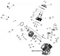 Головка цилиндра двигателя KOHLER ЕCH 749-3041