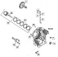 Картер двигателя KOHLER ЕCH 749-3041
