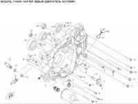 Модуль 114608: Картер левый (двигатель SQ188MR)
