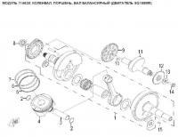 Модуль 114628: Коленвал, поршень, вал балансирный (двигатель SQ188MR)