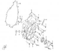 Модуль 114616: Корпус вариатора (двигатель SQ188MR)