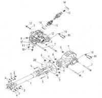 Модуль 114328: Передний дифференциал, задний редуктор