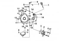 Двигатель (Крышка левого картера 2)