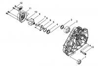 Двигатель (Крышка левого картера)