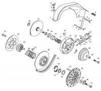 Трансмиссия: ведущий и ведомый шкив вариатора