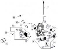 Система смазки двигателя KOHLER ЕCH 749-3041