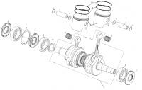 Вал коленчатый двигателя KOHLER ЕCH 749-3041
