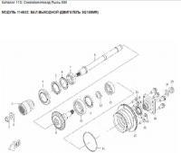 Модуль 114632: Вал выходной (двигатель SQ188MR)